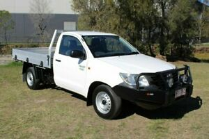 2012 Toyota Hilux TGN16R MY12 Workmate 4x2 White 5 Speed Manual Cab Chassis Ormeau Gold Coast North Preview