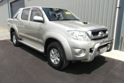 2009 Toyota Hilux KUN26R 09 Upgrade SR5 (4x4) Silver 4 Speed Automatic Dual Cab Pick-up