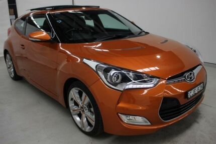 2012 Hyundai Veloster FS2 + Coupe D-CT Orange 6 Speed Sports Automatic Dual Clutch Hatchback Maryville Newcastle Area Preview