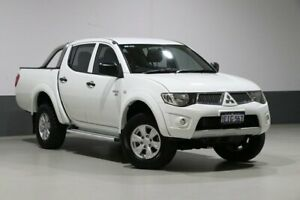 2013 Mitsubishi Triton MN MY13 GL-R (4x4) White 4 Speed Automatic Double Cab Utility