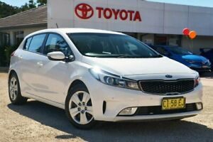 2016 Kia Cerato YD MY16 S White 6 Speed Automatic Hatchback Wyong Wyong Area Preview