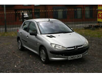 Peugeot 206 1.4 (Cheap car with low mileage and long MOT)