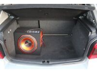 Jvc double din CD player & sub