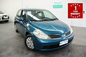 2009 Nissan Tiida C11 MY07 ST Blue Automatic Hatchback Mordialloc Kingston Area Preview