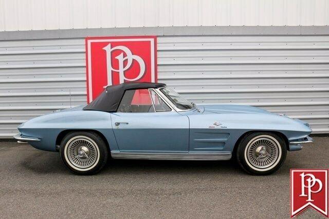 1963 Blue Chevrolet Corvette Convertible  | C2 Corvette Photo 6