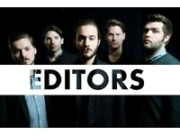 2x Editors Standing Tickets - Manchester Cathedral - 5th March