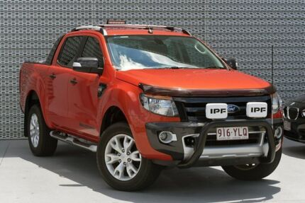 2012 Ford Ranger PX Wildtrak Double Cab Orange 6 Speed Sports Automatic Utility Southport Gold Coast City Preview