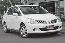 2010 Nissan Tiida C11 MY07 ST White 6 Speed Manual Sedan Mount Gravatt Brisbane South East Preview