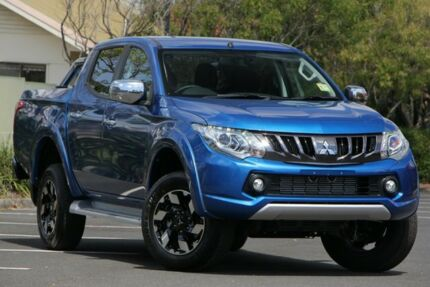2018 Mitsubishi Triton MQ MY18 Exceed Double Cab Blue 5 Speed Sports Automatic Utility Chermside Brisbane North East Preview