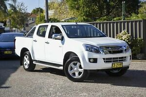 2014 Isuzu D-MAX MY15 LS-U Crew Cab High Ride White 5 Speed Sports Automatic Utility Greenacre Bankstown Area Preview