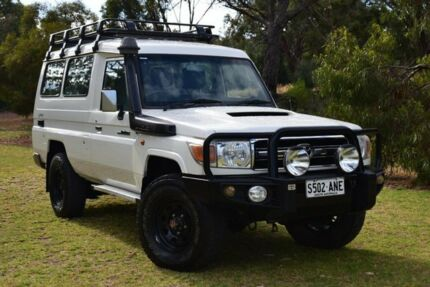 2011 Toyota Landcruiser VDJ78R MY10 GXL Troopcarrier White 5 Speed Manual Wagon St Marys Mitcham Area Preview