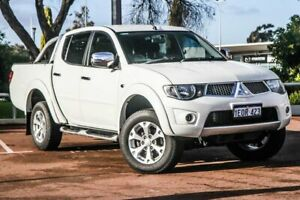 2014 Mitsubishi Triton MN MY15 GLX-R Double Cab White 5 Speed Sports Automatic Utility Wangara Wanneroo Area Preview