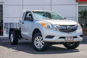 2014 Mazda BT-50 UP0YF1 XT Silver 6 Speed Sports Automatic Cab Chassis