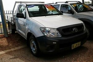 2009 Toyota Hilux TGN16R MY10 Workmate White 5 Speed Manual Cab Chassis Colyton Penrith Area Preview