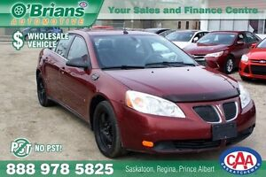 2008 Pontiac G6 SE - Wholesale Unit, No PST!