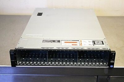 "New Dell R720xd 2.5"" x 24 bay empty chassis with backplane cables fans 3x risers"