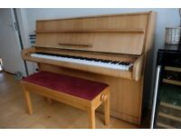 Calisia Upright Piano with double piano stool - superb condition