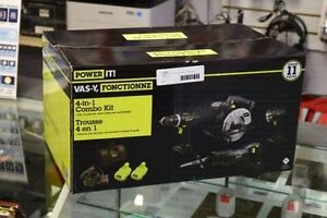 **NEW*Power It 4-in-1 Drill/Circ Saw/Recip Saw/Light Combo Kit