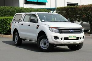 2014 Ford Ranger PX XL Double Cab 4x2 Hi-Rider White 6 Speed Sports Automatic Utility Acacia Ridge Brisbane South West Preview
