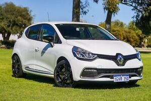 2014 Renault Clio IV B98 R.S. 200 EDC Cup White 6 Speed Sports Automatic Dual Clutch Hatchback Burswood Victoria Park Area Preview