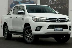 2018 Toyota Hilux GUN126R SR5 Double Cab Glacier White 6 Speed Manual Utility Ferntree Gully Knox Area Preview