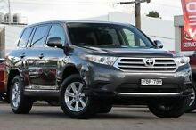 2012 Toyota Kluger GSU40R MY11 Upgrade KX-R (FWD) 7 Seat Grey 5 Speed Automatic Wagon Waitara Hornsby Area Preview