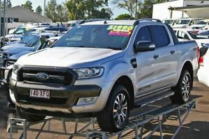 2016 Ford Ranger PX MkII Wildtrak Double Cab Silver 6 Speed Manual Utility Monkland Gympie Area Preview