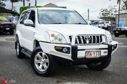 2007 Toyota Landcruiser Prado KDJ120R GXL White 5 Speed Automatic Wagon Archerfield Brisbane South West Preview