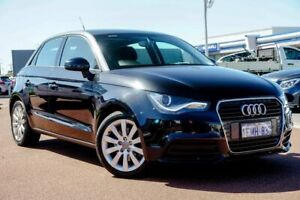 2014 Audi A1 8X MY14 Attraction Sportback S Tronic Black 7 Speed Sports Automatic Dual Clutch Osborne Park Stirling Area Preview