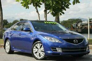 2008 Mazda 6 GH1051 Luxury Sports Blue 6 Speed Manual Hatchback Bungalow Cairns City Preview