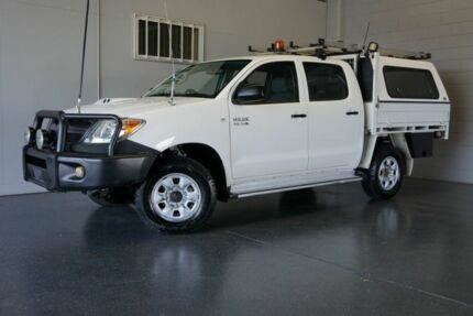 2007 Toyota Hilux KUN26R 06 Upgrade SR (4x4) White 5 Speed Manual Dual Cab Chassis Woodridge Logan Area Preview