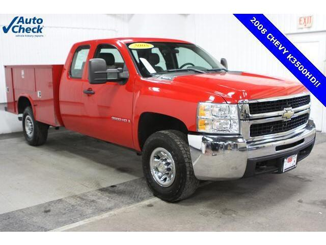Used 08 Chevy K3500hd Extended Cab 4x4 Srw Knaphiede Utility Box V8 Work Truck Used Chevrolet