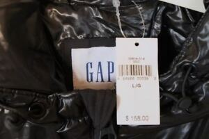 GAP BLACK PUFFER JACKET Men's L
