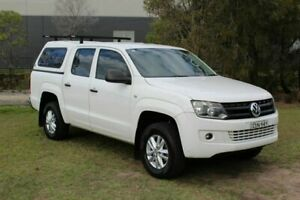 2011 Volkswagen Amarok 2H MY12 TDI400 4x2 White 6 Speed Manual Utility Ormeau Gold Coast North Preview