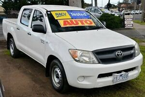 2007 Toyota Hilux GGN15R MY07 SR White 5 Speed Automatic Utility Ferntree Gully Knox Area Preview