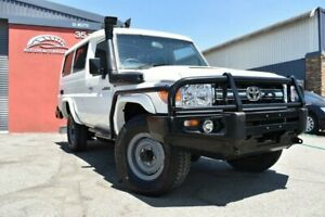 2008 Toyota Landcruiser VDJ78R 2008 Workmate Troopcarrier White 5 Speed Manual Wagon Cannington Canning Area Preview