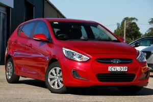 2015 Hyundai Accent RB3 MY16 Active Red 6 Speed Constant Variable Hatchback Gateshead Lake Macquarie Area Preview