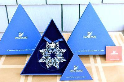 2003 SWAROVSKI CRYSTAL STAR ORNAMENT - MINT IN BOX