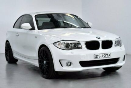 2012 BMW 120i E82 LCI White Sports Automatic Coupe