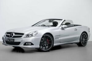 2009 Mercedes-Benz SL350 R230 MY09 Silver 7 Speed Automatic Roadster Port Melbourne Port Phillip Preview