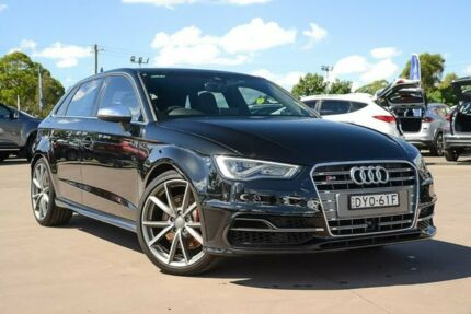 2016 Audi S3 8V MY16 Sportback S tronic quattro Black 6 Speed Sports Automatic Dual Clutch Hatchback McGraths Hill Hawkesbury Area Preview