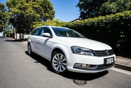 2011 Volkswagen Passat Type 3C MY12 118TSI DSG White 7 Speed Sports Automatic Dual Clutch Wagon Hove Holdfast Bay Preview