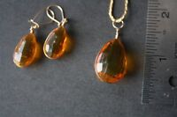 Citrine necklace with matching earrings