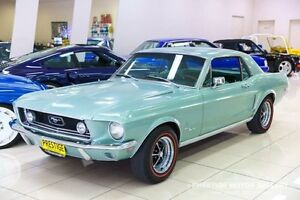 1968 Ford Mustang Lime Gold Metallic 3 Speed Automatic Hardtop Carss Park Kogarah Area Preview