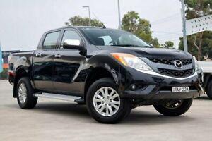 2013 Mazda BT-50 UP0YF1 XT 4x2 Hi-Rider Black 6 Speed Sports Automatic Utility