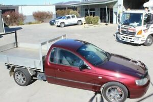 2004 Ford Falcon BA Tradesman Super Cab XL Maroon 4 Speed Sports Automatic Traytop Mitchell Gungahlin Area Preview