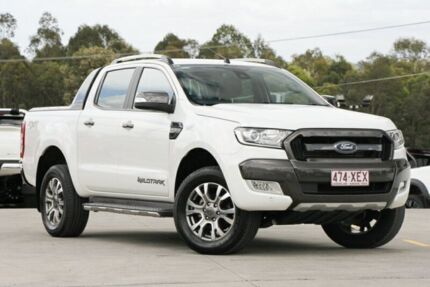 2015 Ford Ranger PX MkII Wildtrak Double Cab White 6 Speed Sports Automatic Utility Springwood Logan Area Preview