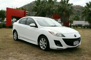 2010 Mazda 3 BL10F1 MY10 Maxx Sport White 6 Speed Manual Sedan Townsville Townsville City Preview