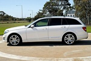 2014 Mercedes-Benz C-Class W204 MY14 C250 Estate 7G-Tronic + Avantgarde White 7 Speed Melbourne Airport Hume Area Preview