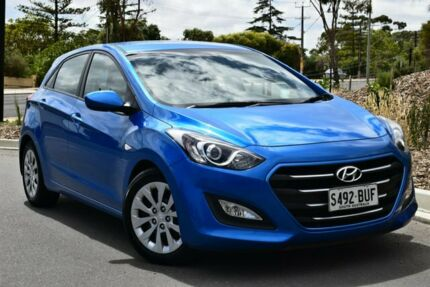 2016 Hyundai i30 GD4 Series II MY17 Active Blue 6 Speed Sports Automatic Hatchback St Marys Mitcham Area Preview